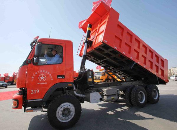 大运自卸车批量交付给朔州煤矿工程项目部