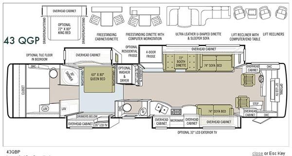a级帝豪430qgp豪华级房车内部结构图