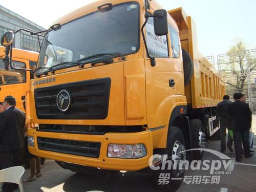 LNG CNG双燃料自卸车亮相燃气展