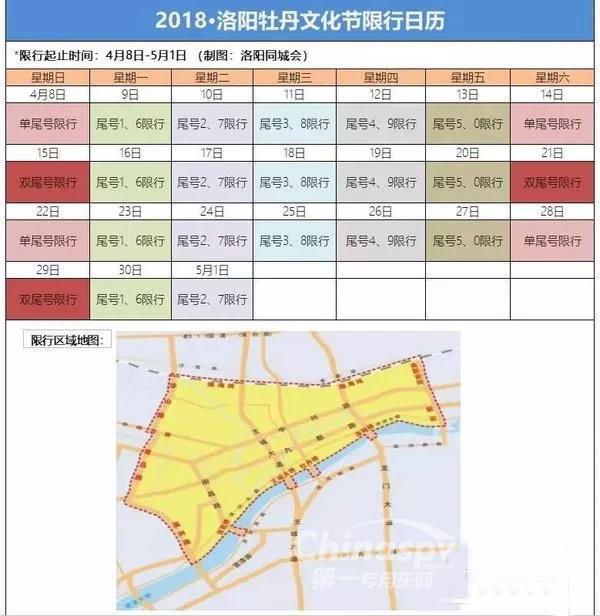 洛阳4月8日至5月1日部分路段货车限行