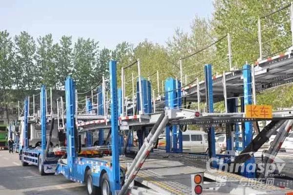 中集东岳轿运车交付上海客户