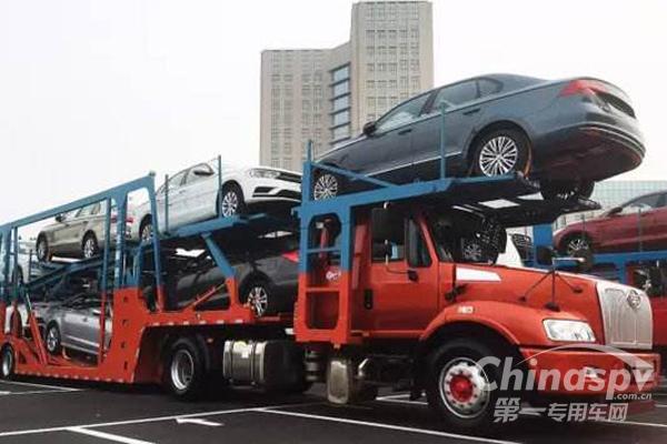 一汽解放轿运车北京品鉴会大放异彩