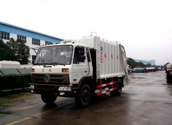 东风145型8方压缩式垃圾车图片