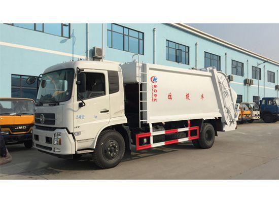 东风天锦8方压缩式垃圾车图片