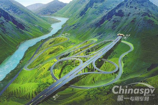 """指定用车东风天龙即将登上公路建设史上""""珠峰"""""""