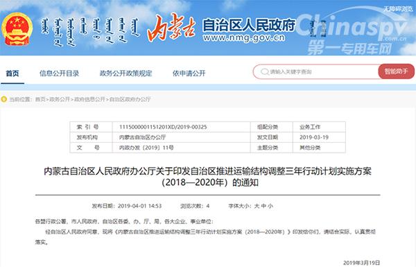2020年内蒙古超限超载率不超过0.5%
