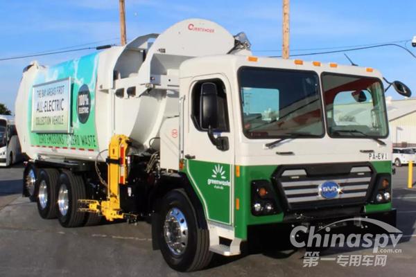 3台比亚迪纯电动环卫车亮相美国硅谷