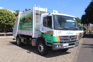 艾里逊自动变速箱+梅赛德斯奔驰环卫车首次亮相巴西包鲁市